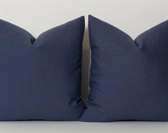 Blue Pillows Navy Pillows Decorative Throw Pillow Cover Cushion Covers Navy Blue 16x16 18x18 20x20 22x22 24x24 26x26 28x28 30x30
