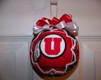 University of Utah Utes Quilted Ornament