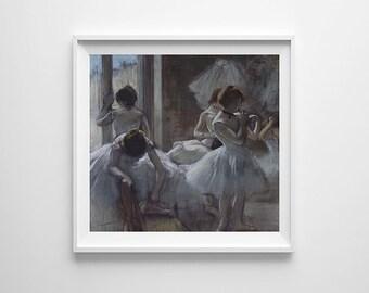 "28"" x 28"" - Victorian Art, Vintage Art, Large Print of Degas Dancers"