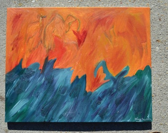Fire and Ice - Oil painting - Original by Missy Kay