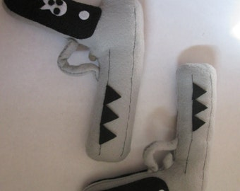 Soul Eater inspired Death the Kid Guns, cosplay plush Made to order