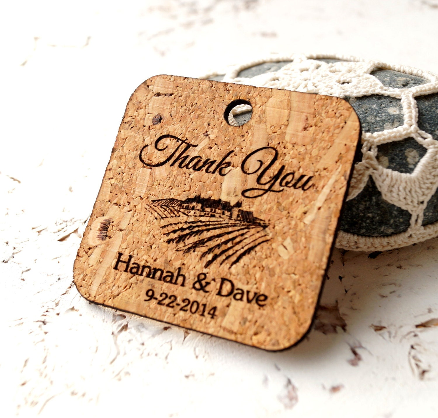 Rustic favor tags personalized wedding favor tags custom