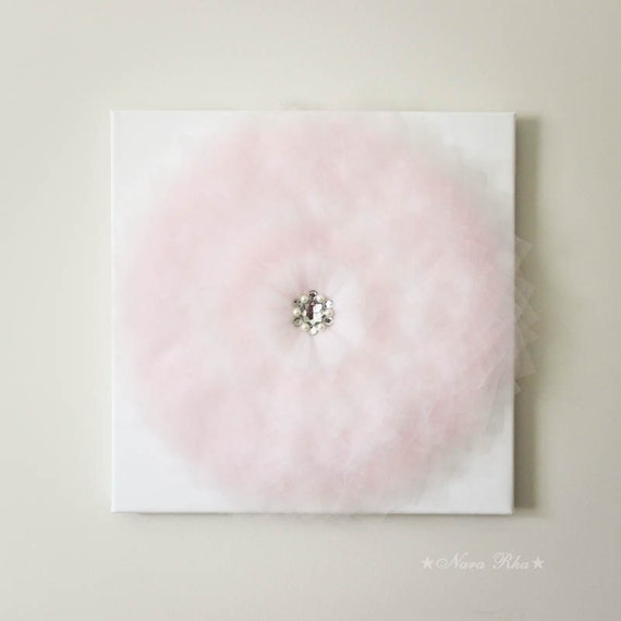 Wall Decor White Flowers : Flower wall art pink and white canvas shabby decor home