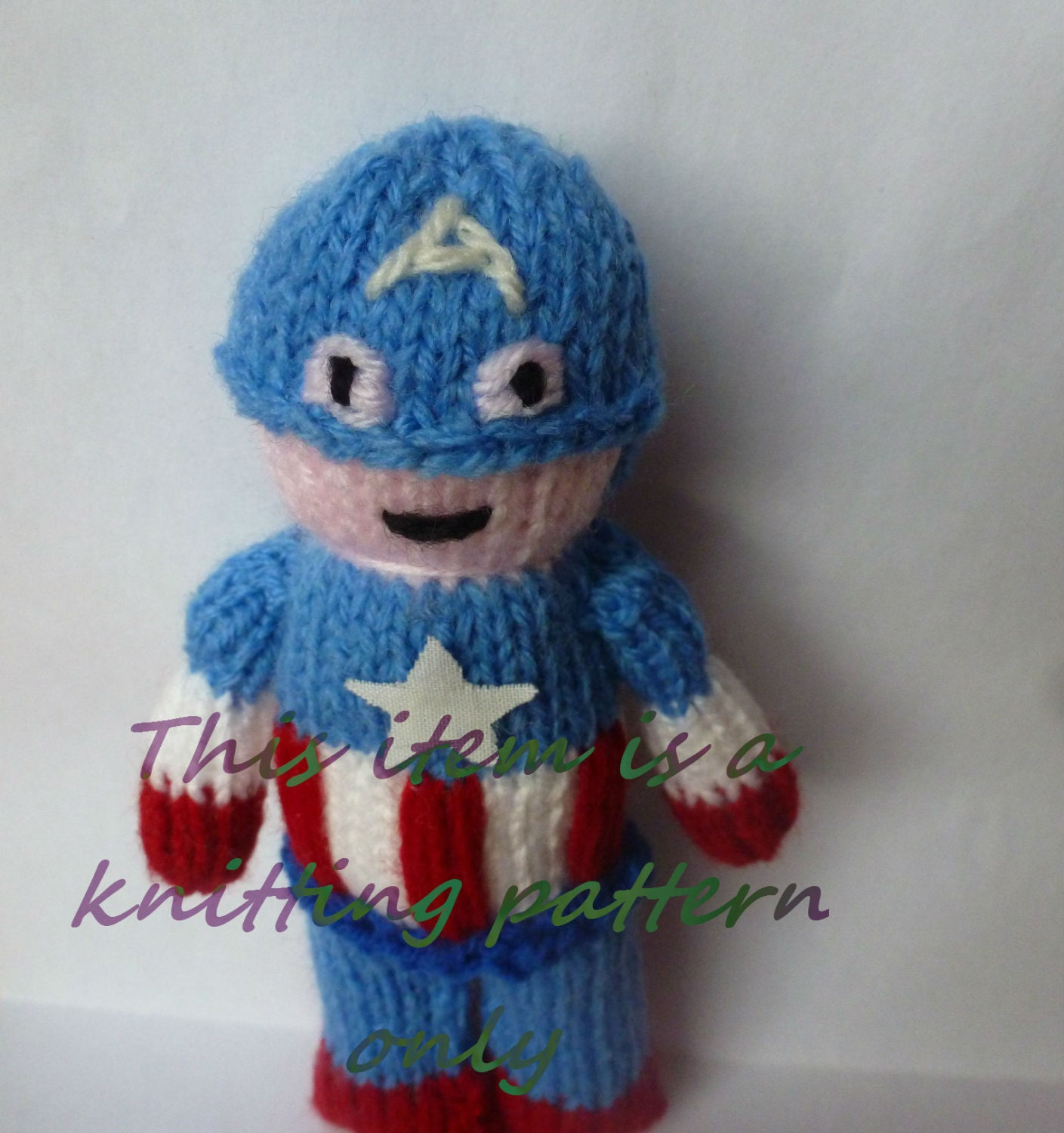 Captain America Knitting Pattern : PDF knitting pattern: Captain America