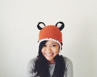 Calvin and Hobbes Inspired Crochet Beanie