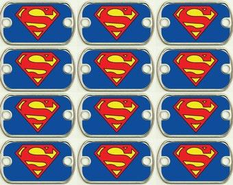 Superman Dog Tag Etsy