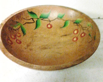 wooden footed bowl