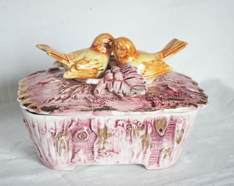 love birds-keepsake Jewelry-candy jar free shipping