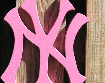 Pink New York Yankees Logo