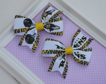 Baltimore Ravens baby hair bow, baby Baltimore ravens hair bow, toddler hair bows