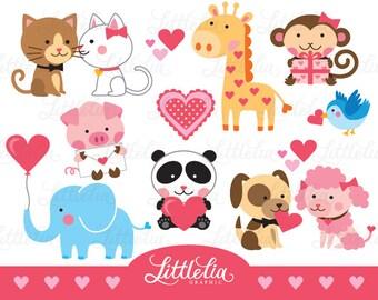 Animal love clipart - valentine clipart - love clipart - 15002
