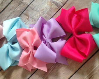 """Spring Hair Bow Lot/Set of Spring Boutique Hair Bows/Boutique 5"""" Hairbows"""