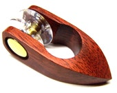 Lovely BLOOD WOOD Tatting Shuttle with Removable Bobbin - Handmade/Unique Design