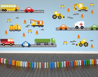 Truck Wall Decal - Construction Wall Decal - Bus Decal- Transportation Decal