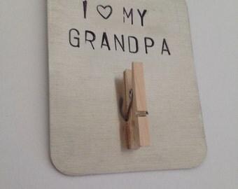 I love my grandpa, grampy, papa, gramp, pop, abuelo magnet. Personalized gift for grandparents, gift for grandpa