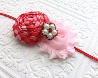 The Valentine Doll Headband or Hair Clip