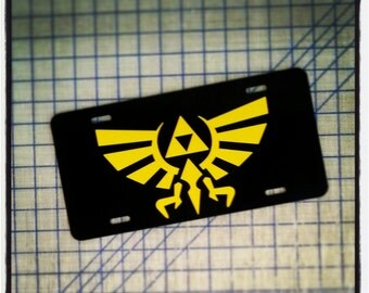 Legend of Zelda - Triforce License Plate