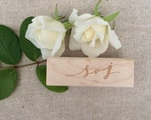 Calligraphy Initials Stamp / Custom Wedding Stamp / Calligraphy Name Stamp / Modern Calligraphy / Love Stamp / Personalized Calligraphy