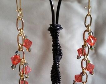 Swarovski Crystal Dangling Earrings