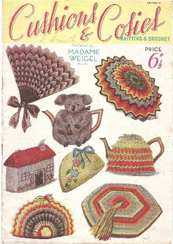 Novelty Tea Cosy Knitting Patterns : Vintage 1930s Knitting Crochet Pattern Novelty Madame