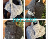 Ribbed Hugger Cowl Wrap Knit PATTERN ONLY