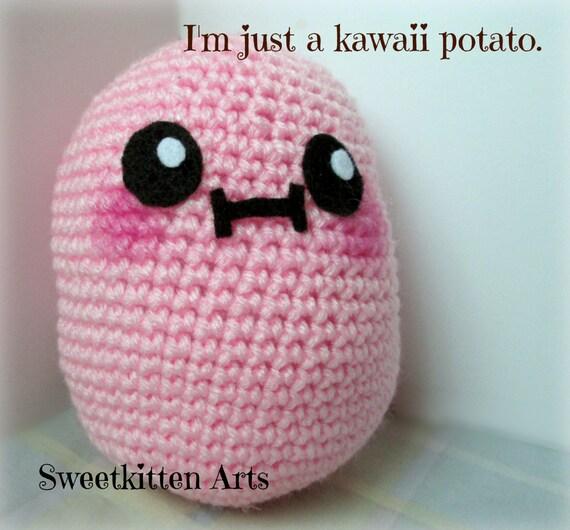 Kawaii Potato Amigurumi : Kawaii Potato Amigurumi Plushie by SweetkittenArts on Etsy