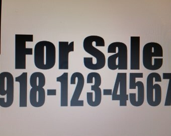 For Sale with phone number vinyl decal
