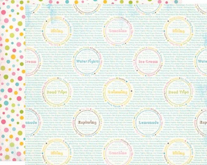 2 Sheets of Carta Bella COOL SUMMER 12x12 Textured Scrapbook Paper - Summer Words