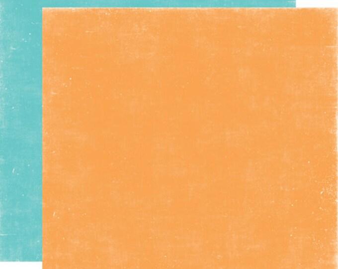 2 Sheets of Echo Park Paper A PERFECT SUMMER 12x12 Scrapbook Paper - Orange/Teal