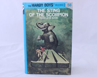 The Hardy Boys, The Sting of the Scorpion, Franklin W. Dixon, 1979, Vintage Chapter Book, Vintage Young Adult Book, Vintage Adventure Book