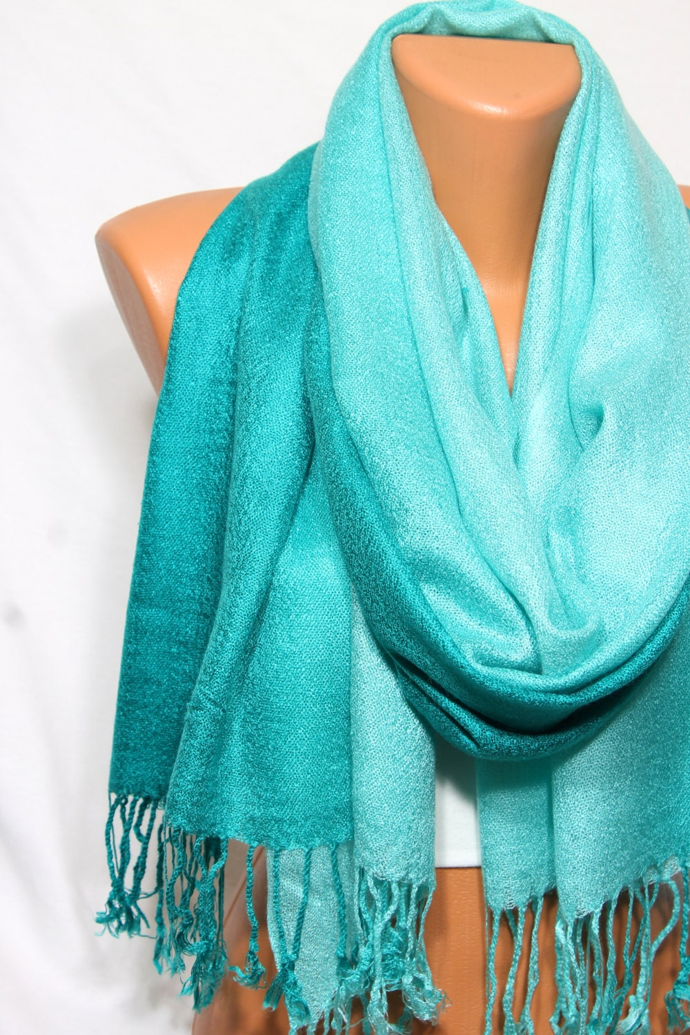 teal aqua scarf shawl fall winter fashion fashion