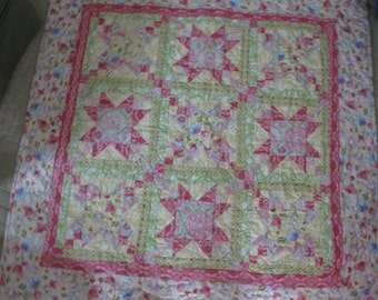 Crib Size Quilt  Patchwork Design Ready to Ship!!