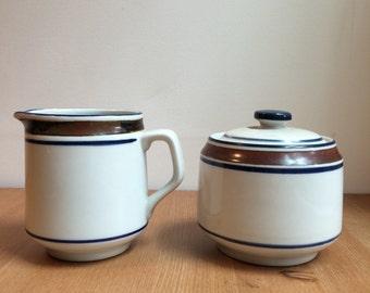 Vintage Salem Stoneware Cream and Suger Set