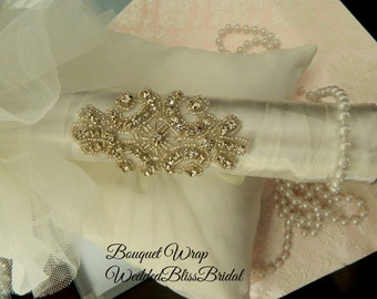 Bouquet Bling Wrap - Glam your Wedding bouquet handle