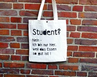 """Jute bag """"Student"""""""