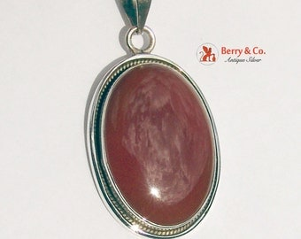 Oval Pendant Agate Sterling Silver