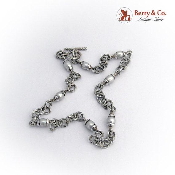 Vintage Silver Tone Retro Modern Box Pendant Necklace 24 ... |Modern Jewelry Clasp