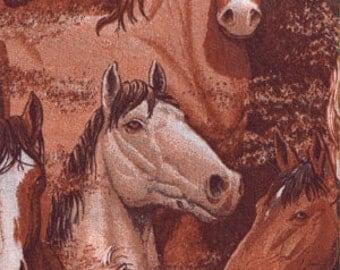 Horses Allover, 100% Cotton Fabric  (24194)
