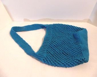 French market bag. Bright blue.