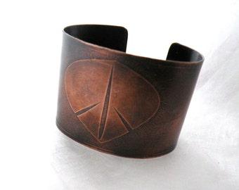 Peace Leaf copper Cuff