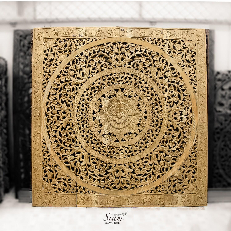 Window treatment teak wood carved wall art panel by - Carved wood wall art panels ...