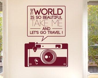 The World Beautiful Take Me Travel Wall Sticker