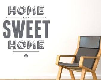 Home Sweet Home Show Case Wall Sticker