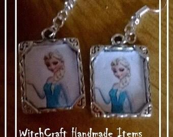 Handmade Frozen themed Elsa earrings