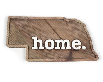 Nebraska home. Rough Cut Mill Wood Wall Hanging
