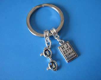 Opticians Keyring Glasses Eye Chart Spectacles Optometrist Keychain