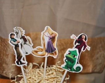 Rapunzel Tangled Cupcake Toppers Set of 12