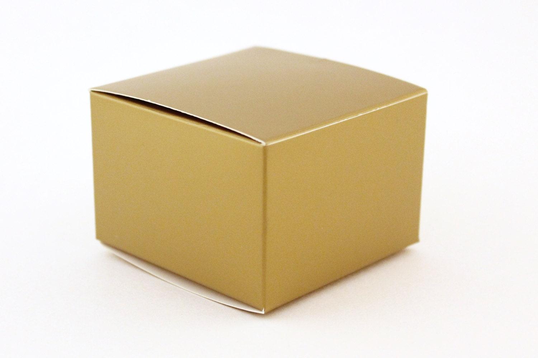 Favor Gift Boxes: Gold Favor Box Small Favor Boxes 3x3x2 Gold Wedding Favor