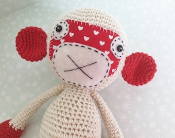 Monkey girl Amigurumi toy.