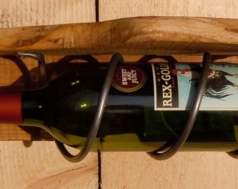 Steel Spiral Wine Bottle Holder
